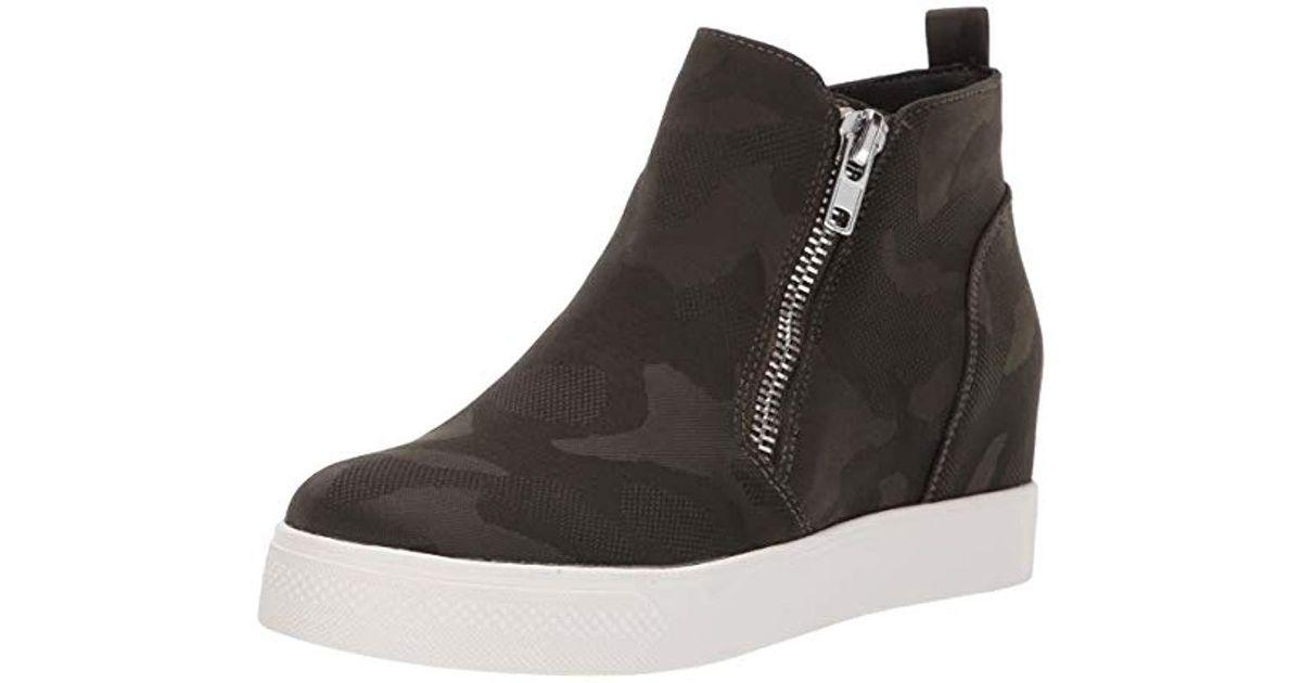 7e3ebe334ec Lyst - Steve Madden Wedgie Sneaker in Black