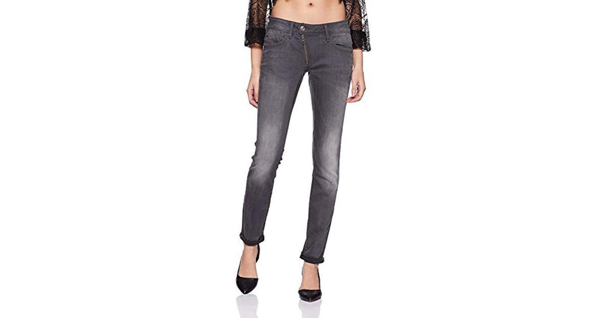 386a8391674 G-Star RAW Lynn Zip Midrise Skinny Slander Grey Super Stretch Medium Aged  Jean in Gray - Lyst