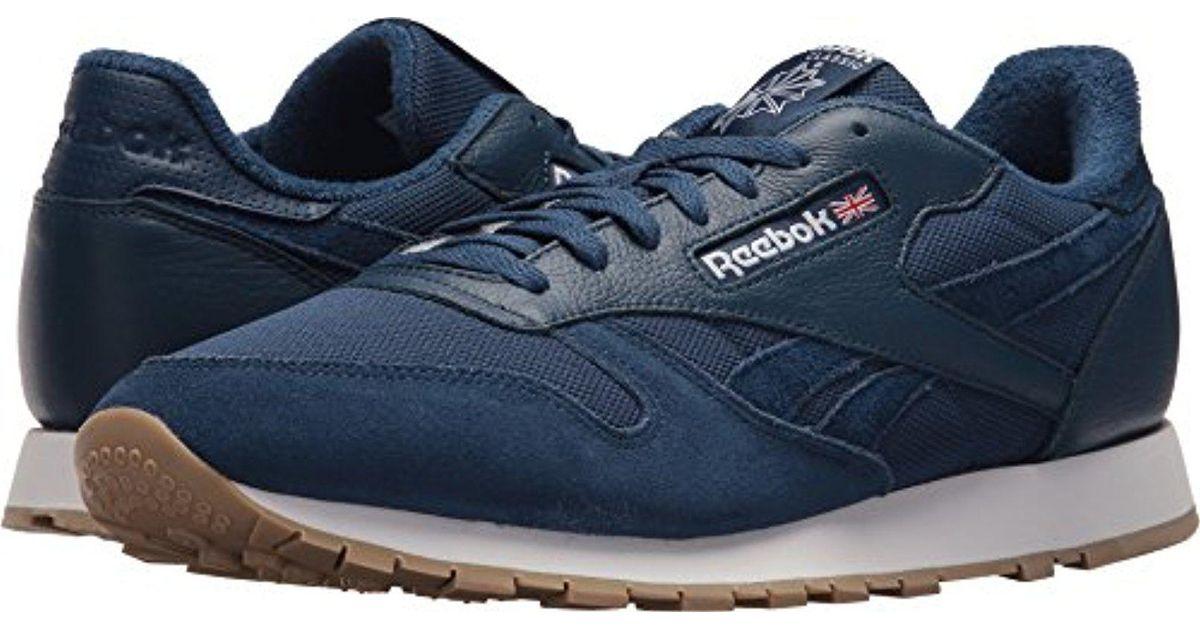 Lyst - Reebok Classic Leather Sneaker in Blue for Men 486421965
