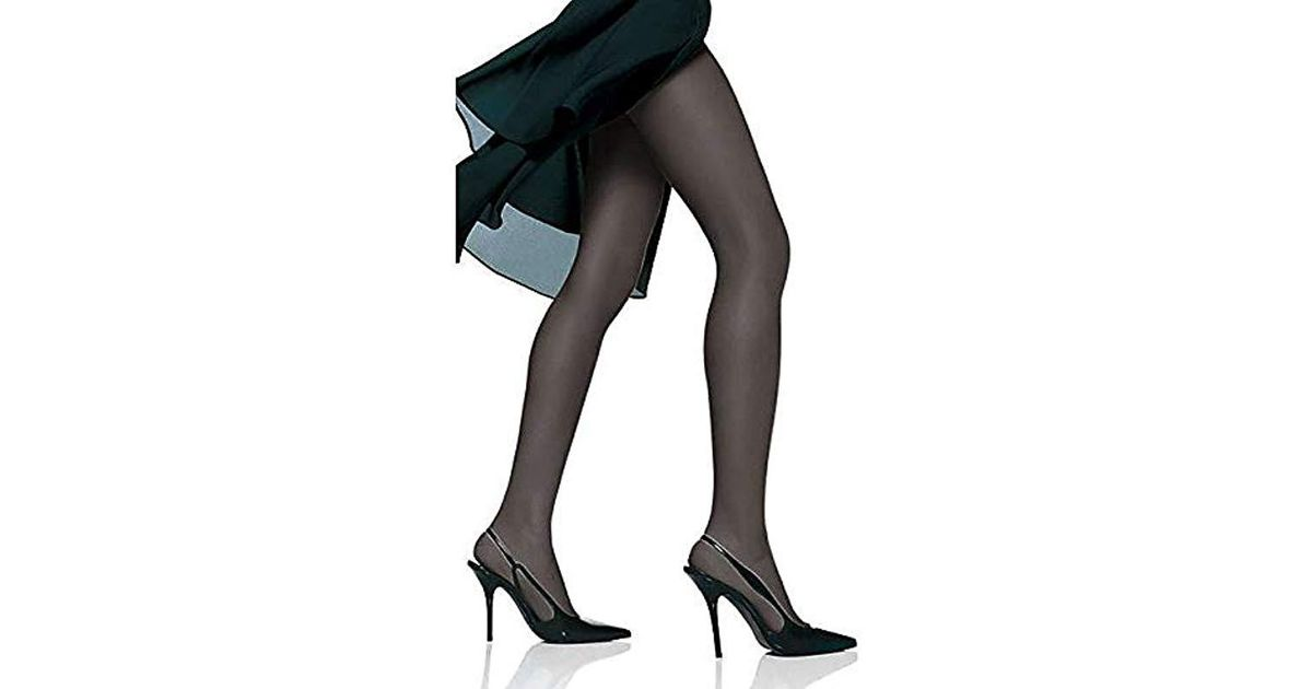 d2cf88b72f5 Lyst - Hanes Non Control Top Sandalfoot Silk Reflections Panty Hose - Save  44%