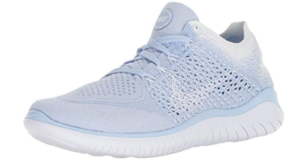 brand new ed864 38b7d Nike Wmns Free Rn Flyknit 2018 Competition Running Shoes in Blue - Save 73%  - Lyst