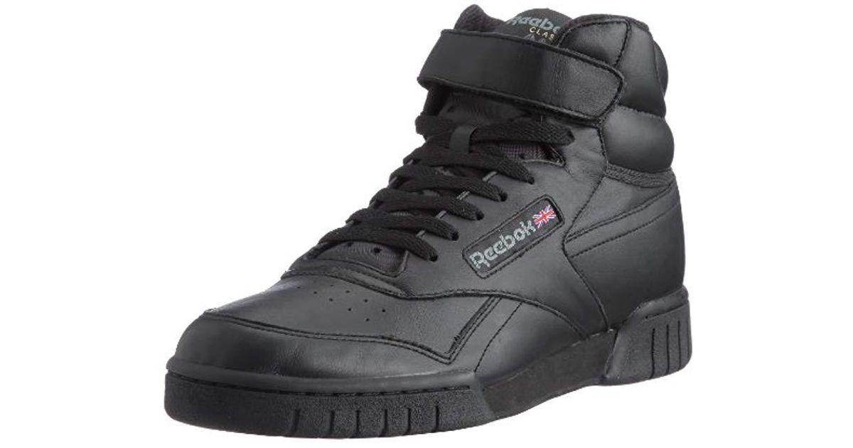 7bafa983493 Reebok Ex O Fit Hi High Rise Hiking Shoes in Black for Men - Lyst