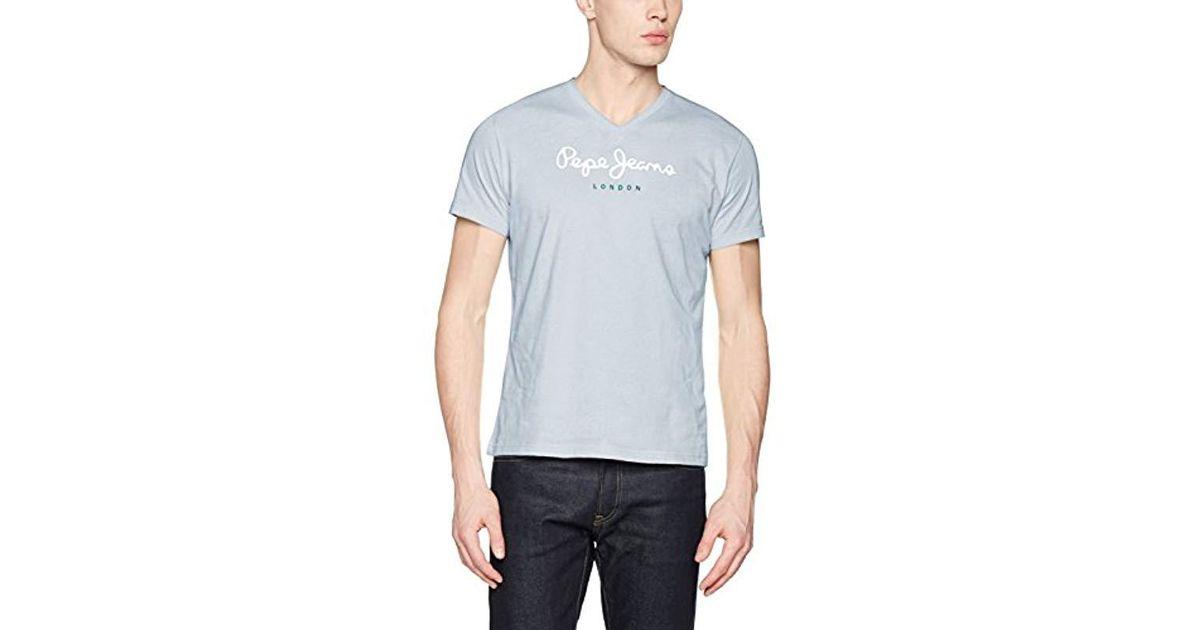 Pour V Shirt Bleu Lyst Jeans T En Homme Pepe Coloris Eggo wf45x0xqF