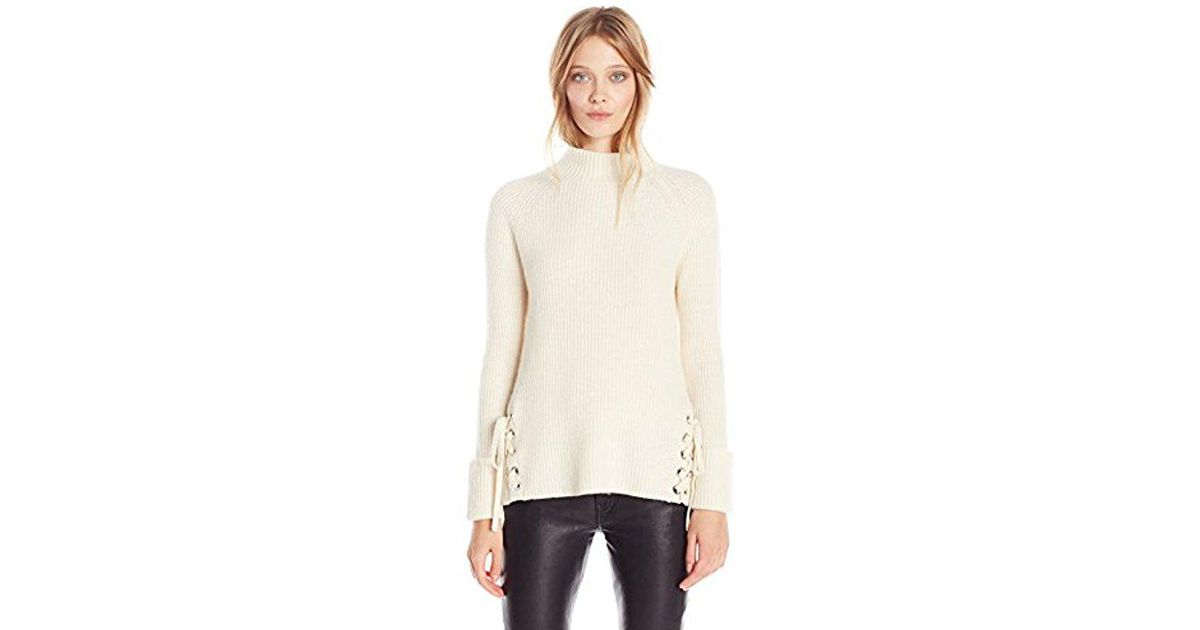 33d0b50e3fc68b Lyst - French Connection Freedom Fringe Knits in Natural