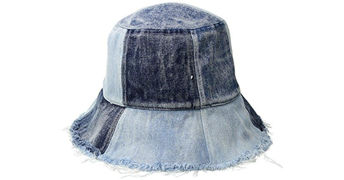 4669b7e1ebb Lyst - BCBGeneration S Patched Denim Bucket in Blue