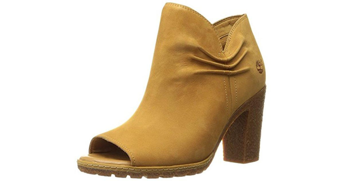 a6d8eabb235e Lyst - Timberland Glancy Rouched Peep Toe Boot