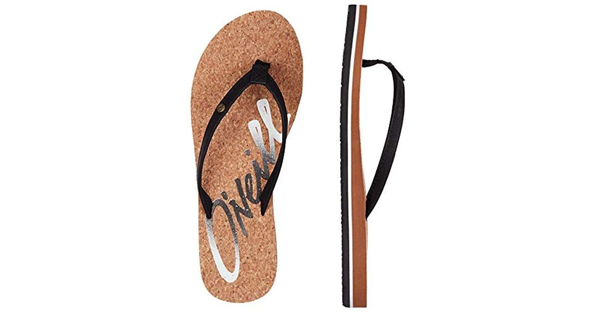 16962965a59 O neill Sportswear Fw Logo Cork Sandals Shoes   Bags in Black - Lyst