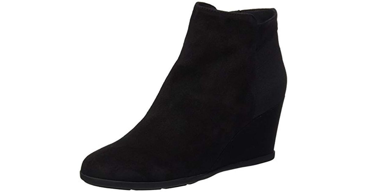 Inspiration Wedge Mujer Black Para Lyst CBotas D Geox fbvy7gY6