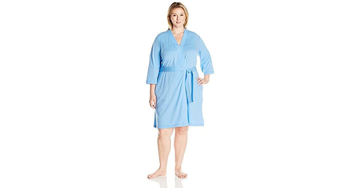 Lyst - Amazon Essentials Plus Size 100% Cotton Robe in Blue