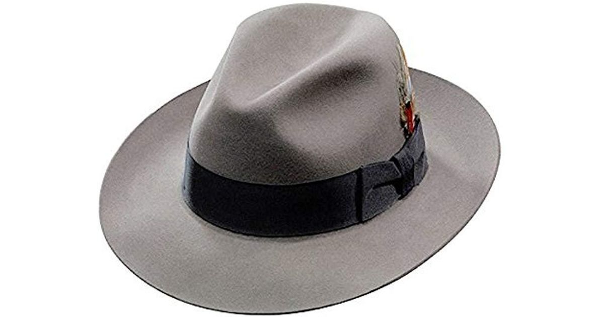 f6ea06bfc725f7 Stetson Sttson Temple Royal Deluxe Fur Felt Hat in Gray for Men - Lyst