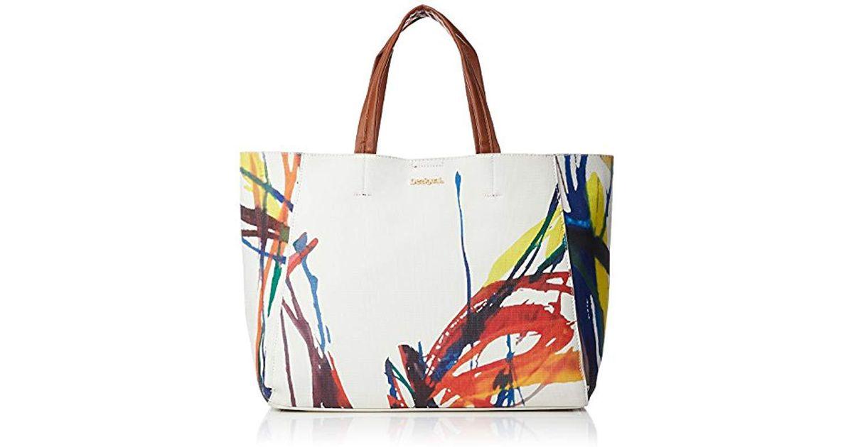 expédition de baisse esthétique de luxe couleurs et frappant Sac 18saxf74 acid ink cuenca blanc Desigual en coloris White