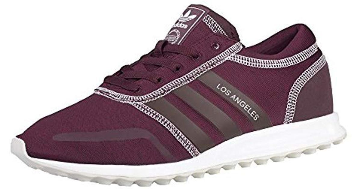 separation shoes cbbfa b4eaa Adidas Los Angeles W Low-top Sneakers in Purple - Lyst