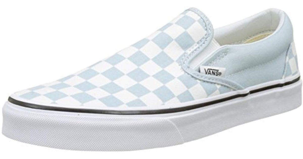 fa2dade2f7 Lyst - Vans Unisex Classic (checkerboard ) Slip-on Skate Shoe in Blue for  Men
