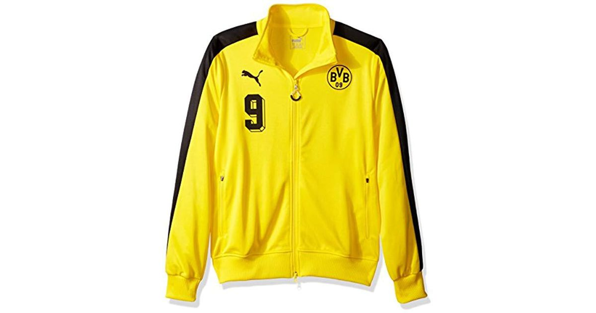 112139ff9a3a Lyst - Puma Bvb T7 Jacket in Yellow for Men
