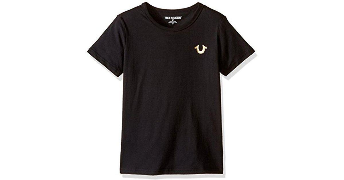 c7fb46e5a Lyst - True Religion Little Boys' Branded Logo T-shirt, Budda Black, 4 in  Black for Men