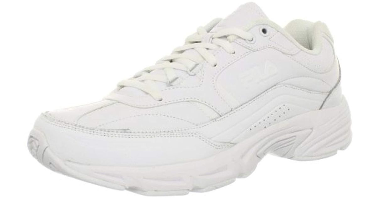 4f525f9762c2 Lyst - Fila  s Memory Workshift Slip Resistant Work Shoe in White for Men
