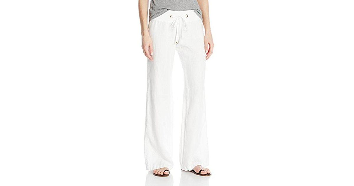 b79b9dddd2 Lilly Pulitzer Linen Beach Pant in White - Lyst
