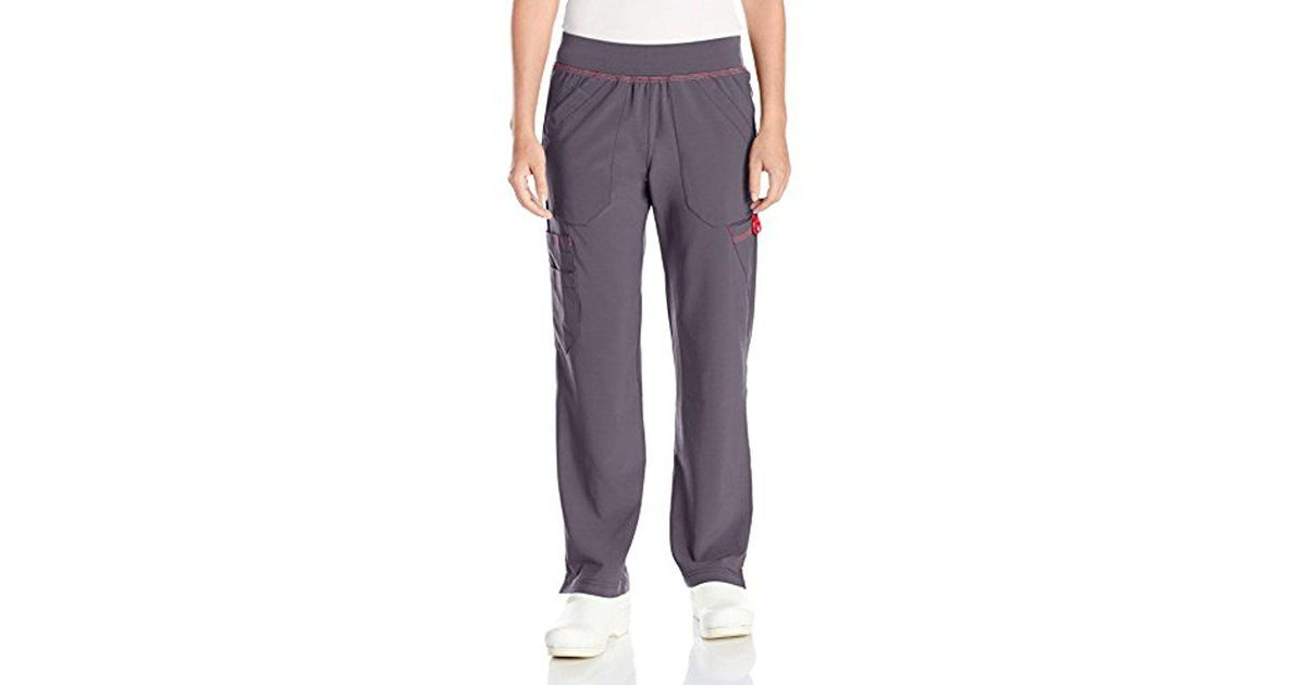 9bc3028e36b Lyst - Carhartt Cross-flex Straight Leg Knit Waist Cargo Scrub Pant Petite  in Gray