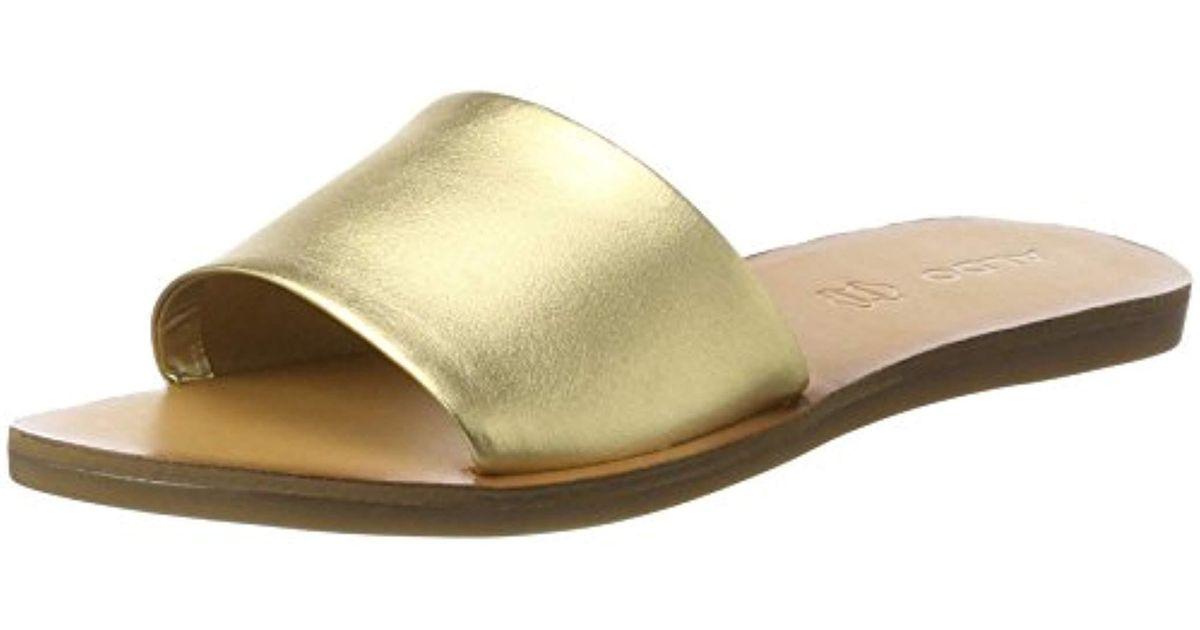 37601a481c16 ALDO Brittny Wedge Heels Sandals in Metallic - Lyst