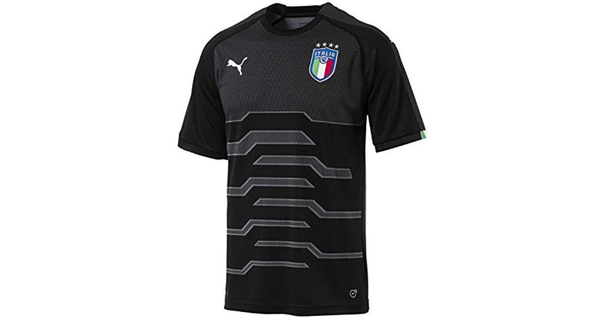 dc0d9079354 Lyst - PUMA Figc Italia Goalkeeper Shirt Replica in Black for Men - Save 30%