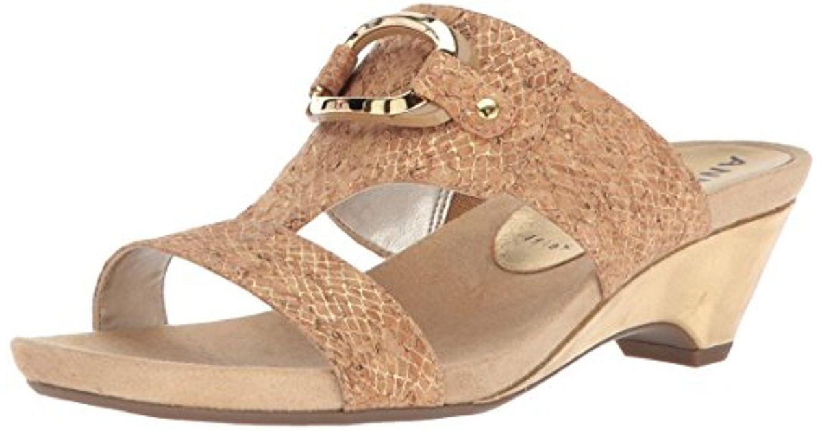 Anne Klein Teela Snake Embossed Wedge Sandal