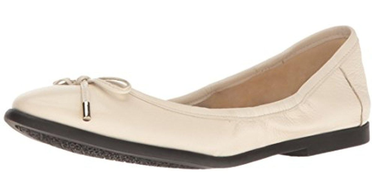 buy discount Quinney Ballet Flat Women Womens Off White Leather Nine West Womens Flats