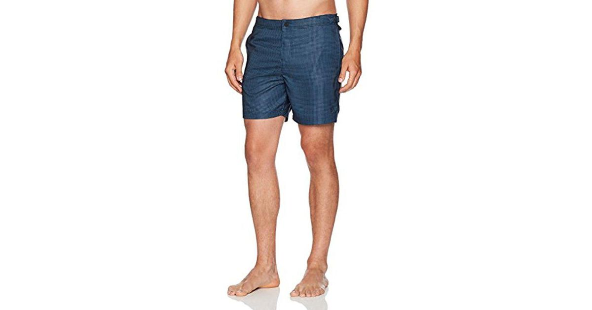 1968d494a1 Lyst - Original Penguin Houndstooth Volley Swim Short in Blue for Men