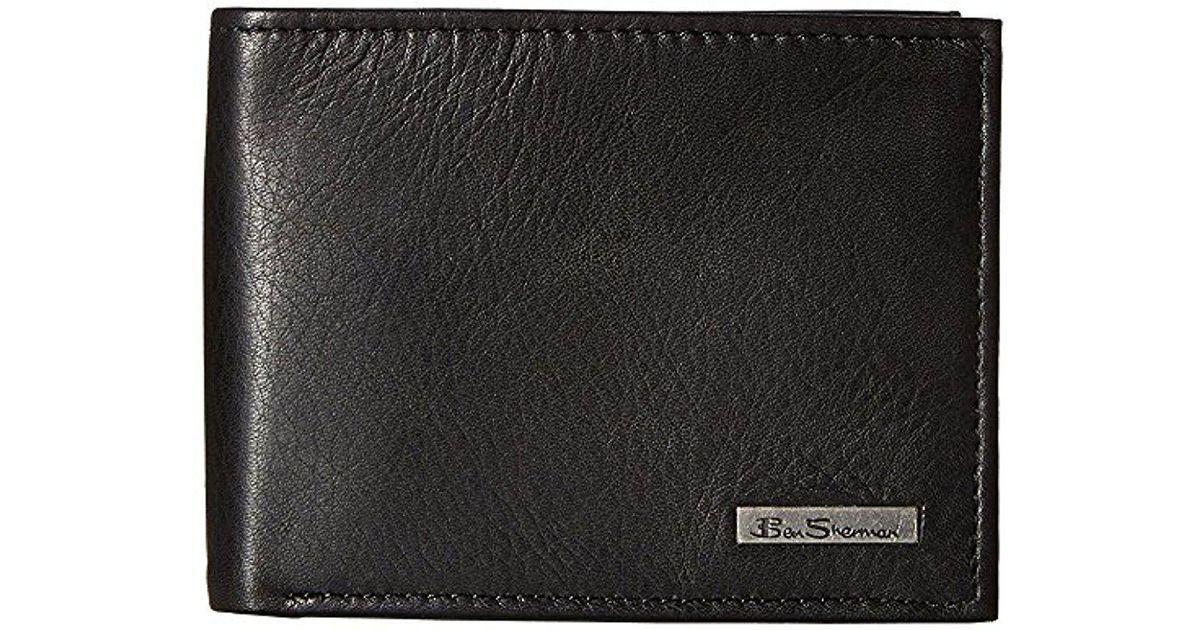 a422d057b715 Lyst - Ben Sherman Hackney Full Grain Cowhide Leather Traveler Passcase  Wallet With Lo in Black for Men
