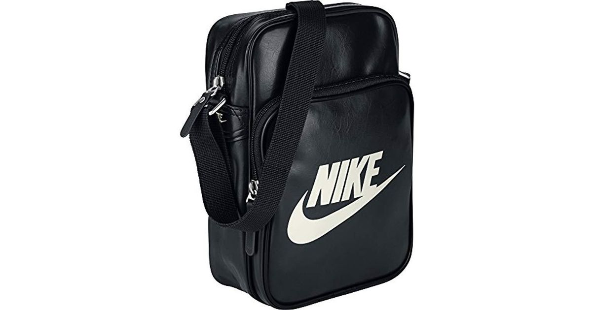 e8ac744418 Nike Heritage Si Small Items Ii Shoulder Bag For Man, One Size in Black -  Lyst