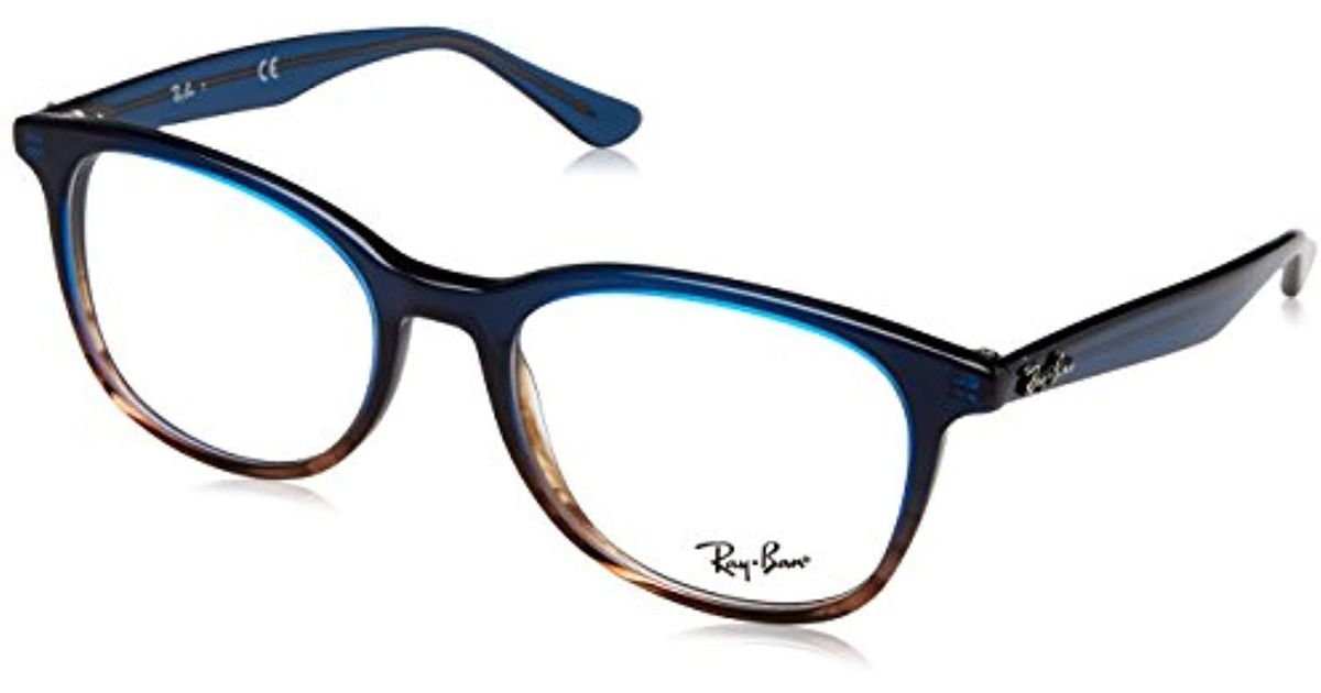 e6d8bd7348 Ray-Ban  s 0rx 5356 5765 54 Optical Frames Gradient Blue On Striped Grey in  Blue - Lyst