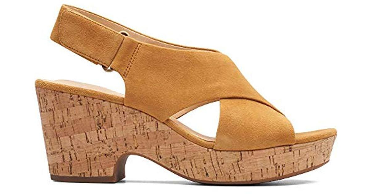 7e4980974488 Clarks Maritsa Lara Ankle Strap Sandals in Brown - Lyst