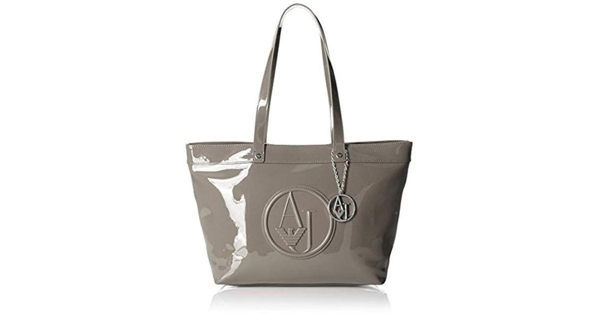 Lyst - Armani Jeans Eco Patent Tote Bag e9cd08a10eb87