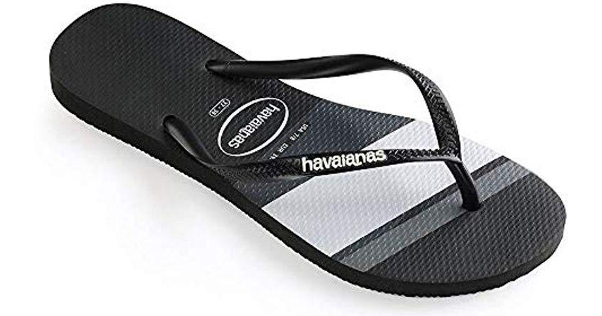 699ac7fb9 Lyst - Havaianas Slim Stripes in Black