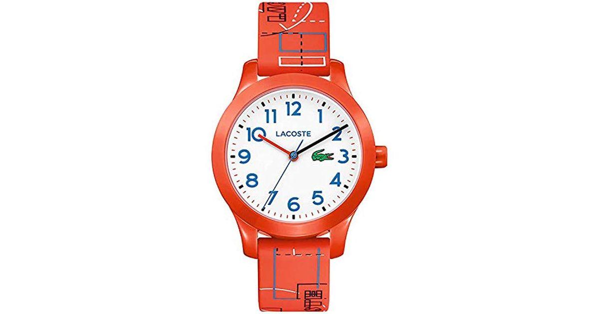 3a6897551 Reloj Analógico para Unisex Niños de Cuarzo con Correa en Silicona 2030010  Lacoste - Lyst