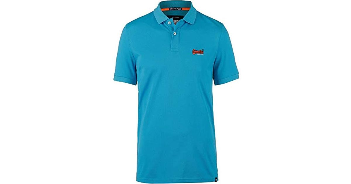 726f616ca2a4 Superdry Mercerised Lite City Polo Shirt in Blue for Men - Lyst