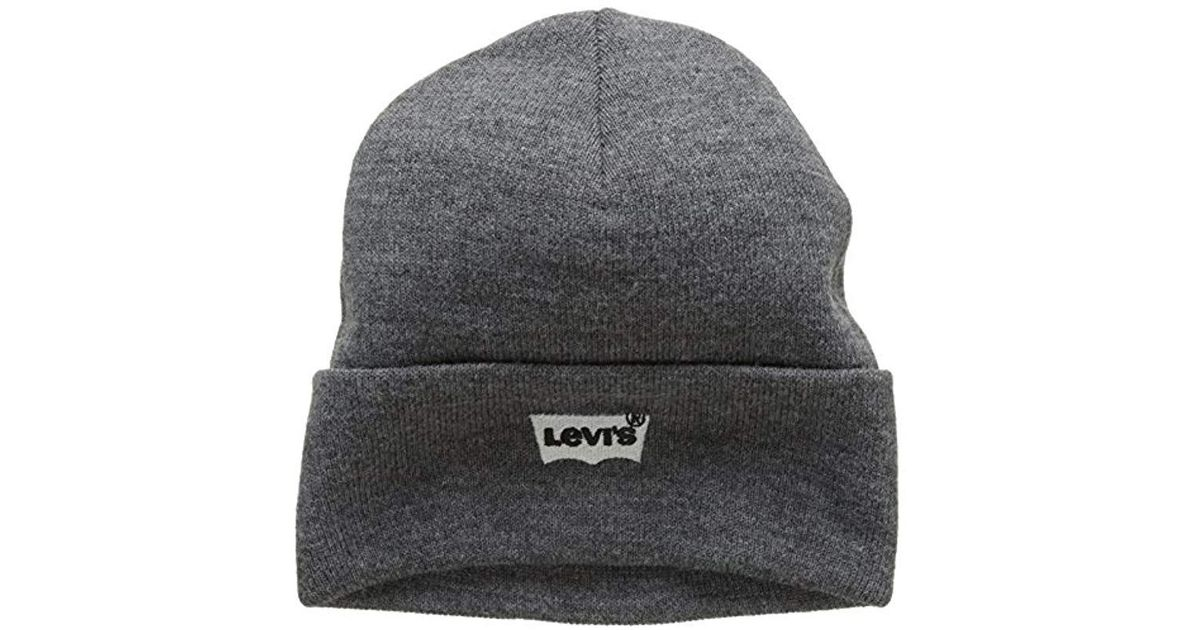 9597d2d33 Levi's - Gray 's Batwing Embroidered Slouchy Beanie for Men - Lyst