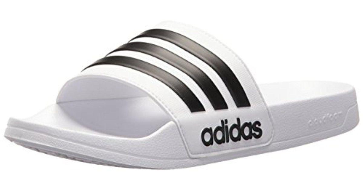 6a385c79f Lyst - adidas Adilette Shower Slide Sandal in White for Men