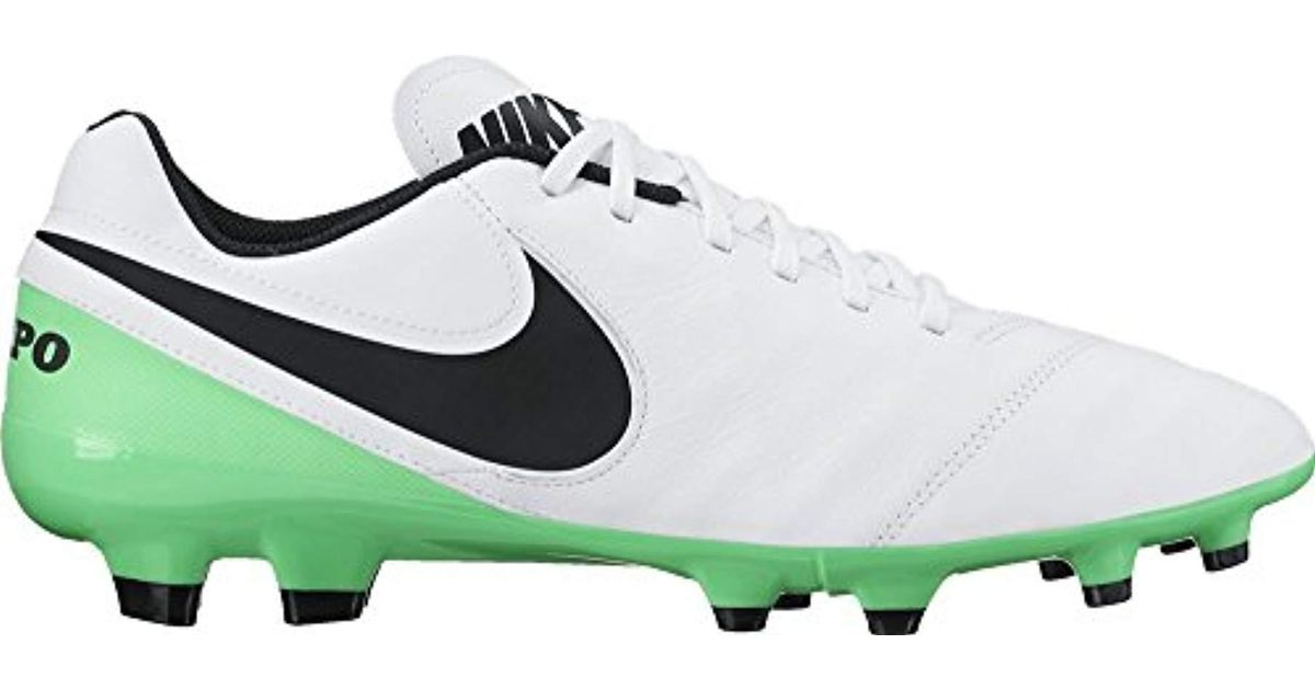 buy online a864d 7a903 Nike Tiempo Genio Ii Leather Fg Football Boots in Green for Men - Lyst