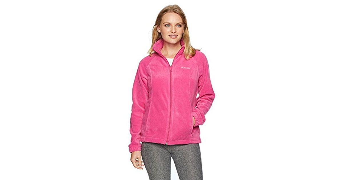 6faaa4381a233 Columbia Petite Benton Springs Full Zip Jacket in Pink - Save 43% - Lyst