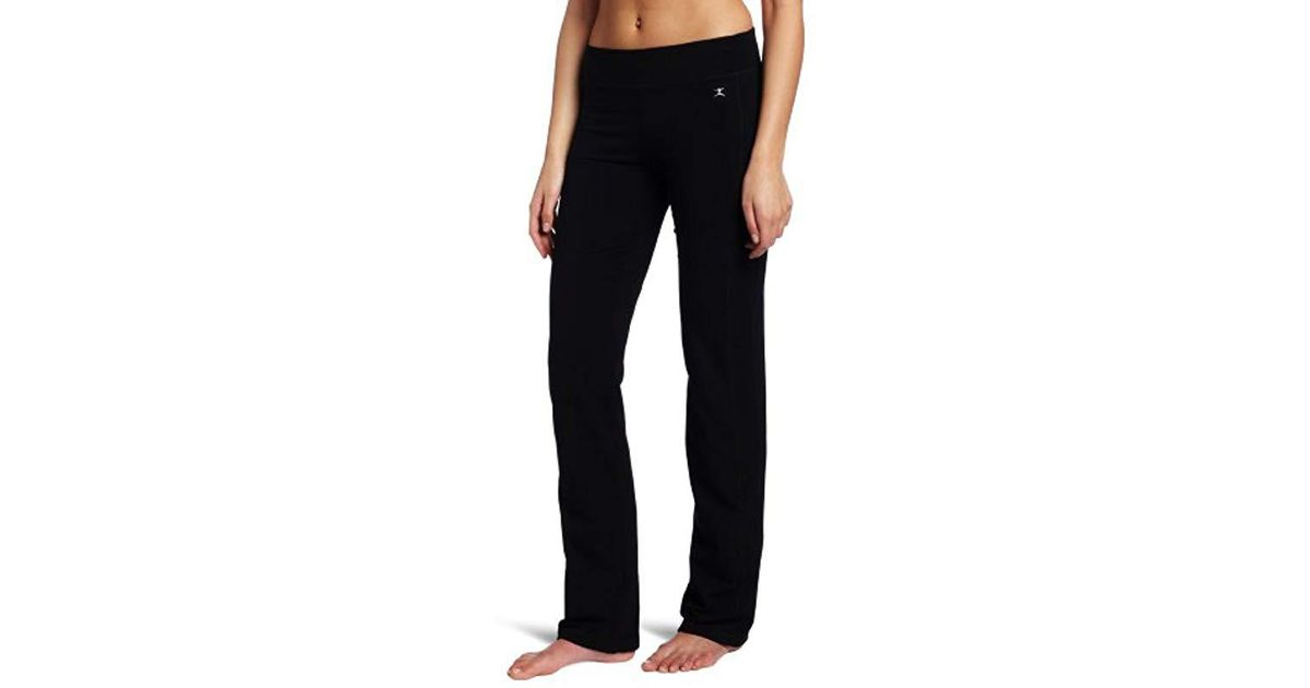 31d9bb7a3f606 Lyst - Danskin Sleek-fit Yoga Pant in Black