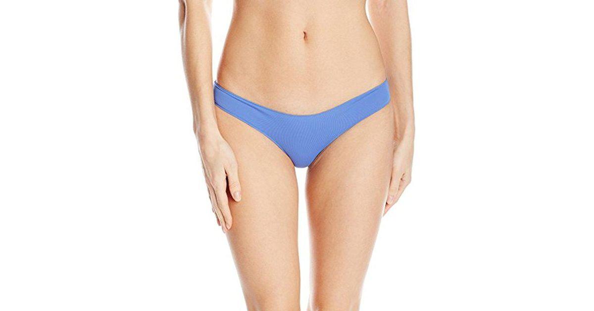b847a5593f Rip Curl Classic Surf Aloha Brazilian Coverage Cheeky Swimsuit Bikini Bottom  in Blue - Lyst