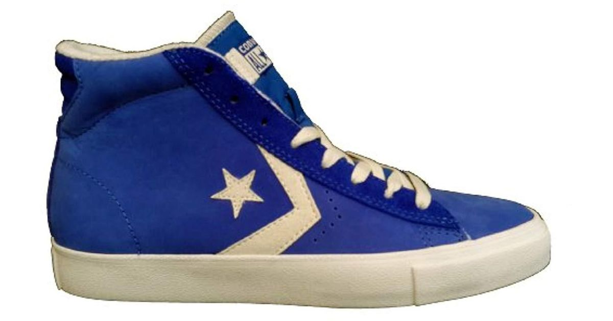 Converse Blue S Pro Leather High Top Vulc Mid Dazzling Blu Suede Trainer for Men Lyst