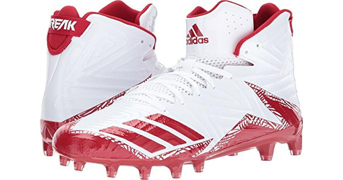 fcf0e1860 Lyst - adidas Freak X Carbon Mid Football Shoe in Red for Men - Save  57.971014492753625%