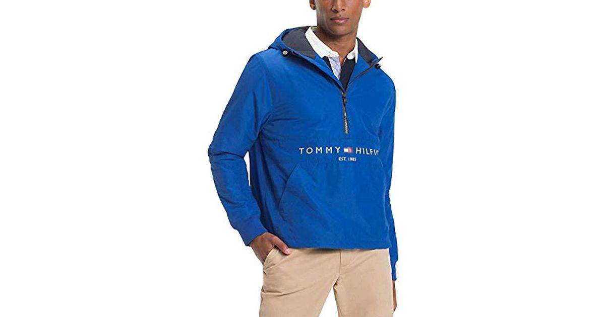 4cc1001719582 Tommy Hilfiger Padded Anorak Jacket in Blue for Men - Lyst