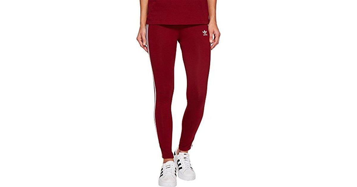 6b67192551d35 adidas Originals 3 Str Tight Collegiate Burgundy Ce2442 Leggings in Red -  Lyst