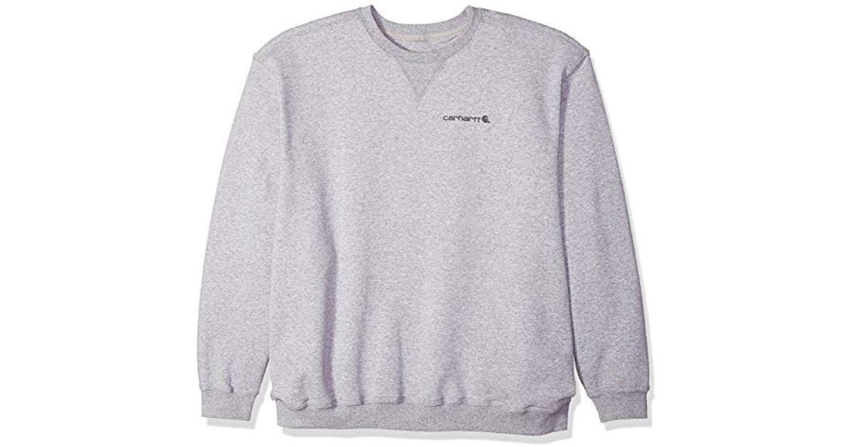 5b4a0cb0c838 Lyst - Carhartt Big   Tall Midweight Graphic Crewneck Sweatshirt in Gray  for Men