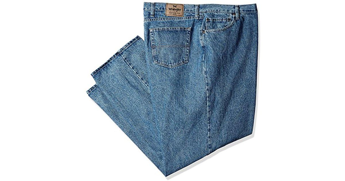 09014878 Lyst - Wrangler Authentics Big & Tall Classic Relaxed Fit Jean,vintage  Stonewash,54x32 in Blue for Men