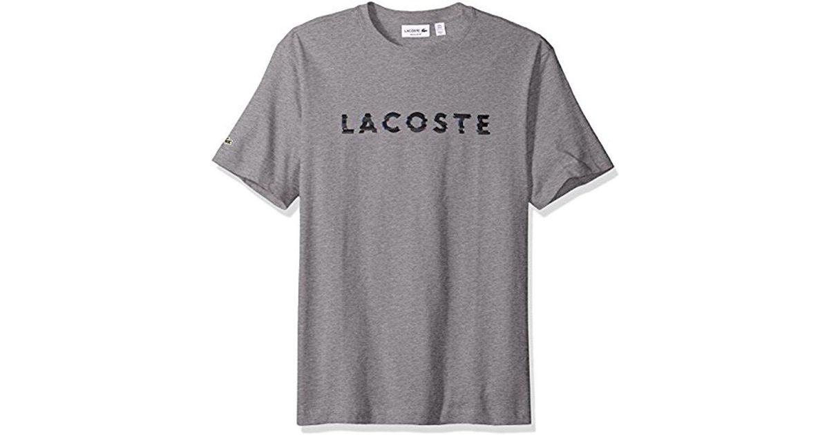 0f0a2fb0 Lacoste - Gray 3d Graphic Short Sleeve T-shirt, Th1895-51 for Men - Lyst