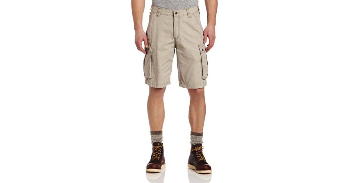 c062dfdb98 Lyst Carhartt 11 Rugged Cargo Short Relaxed Fit In Natural For Men