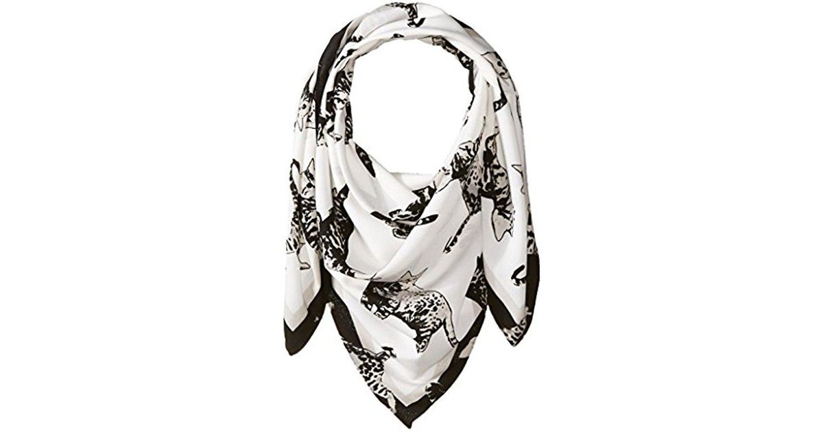 8d5077bd56 Lyst - BCBGeneration Leopard Cat Square in White